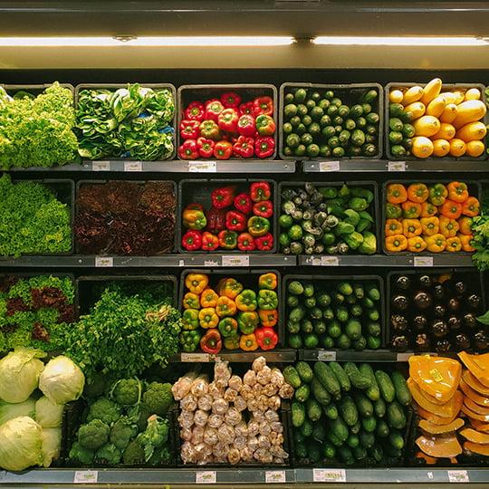 Gran distribución de frutas y verduras